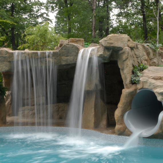Waterfall With Slide